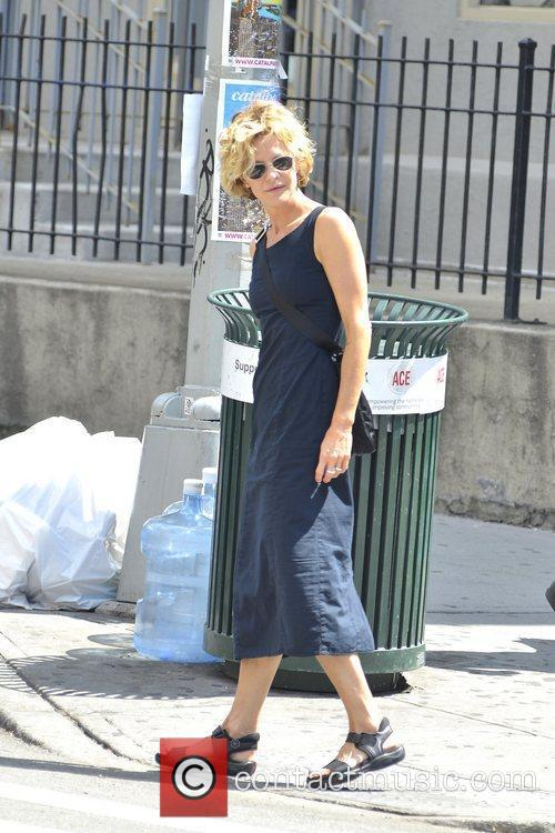Meg Ryan is seen hailing a cab in...