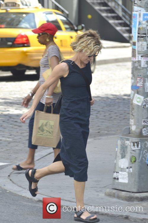 meg ryan is seen hailing a cab 5876315