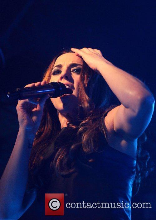 Melanie C (real name Melanie Chisholm) performing onstage...