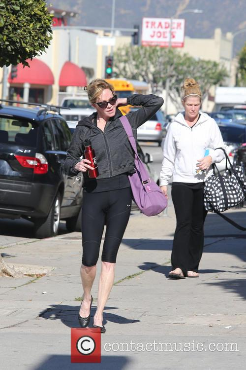 Melanie Griffith is seen in good spirits after...