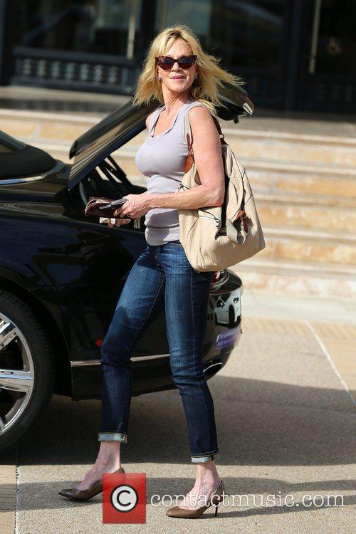 Seen exiting Barneys New York in Beverly Hills.