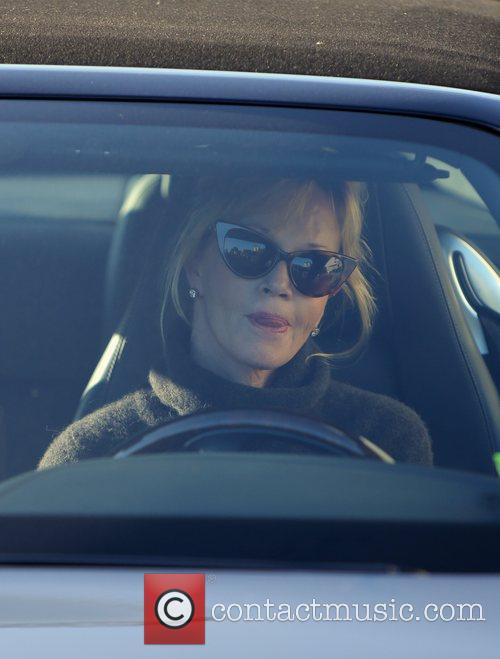 melanie griffith drives off after a day 5966396
