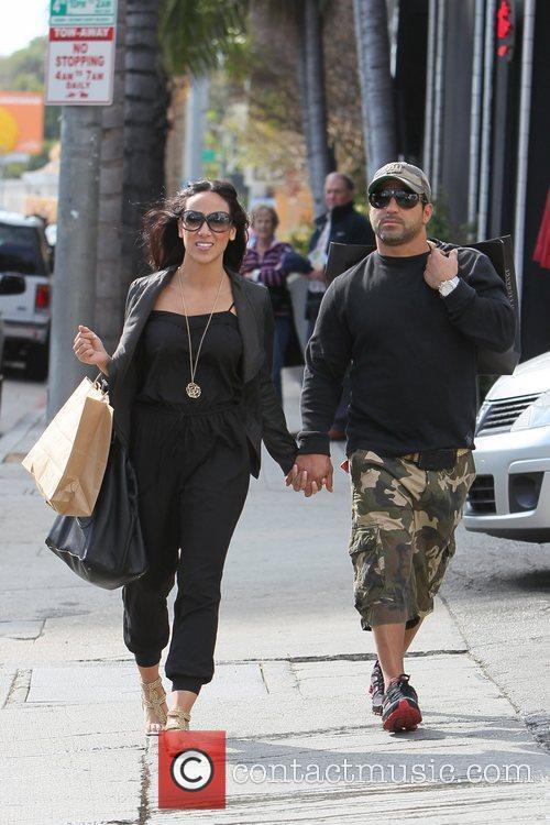 Melissa Gorga and husband Joe Gorga seen returning...