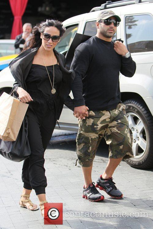 Melissa Gorga and husband Joe Gorga seen returning...