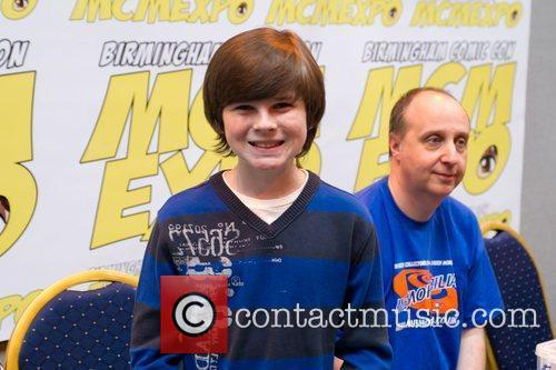 Chandler Riggs The 2012 Memorabilia Show at the...