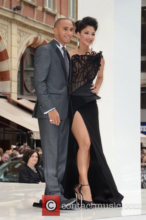 Lewis Hamilton, Nicole Scherzinger, Odeon Leicester Square