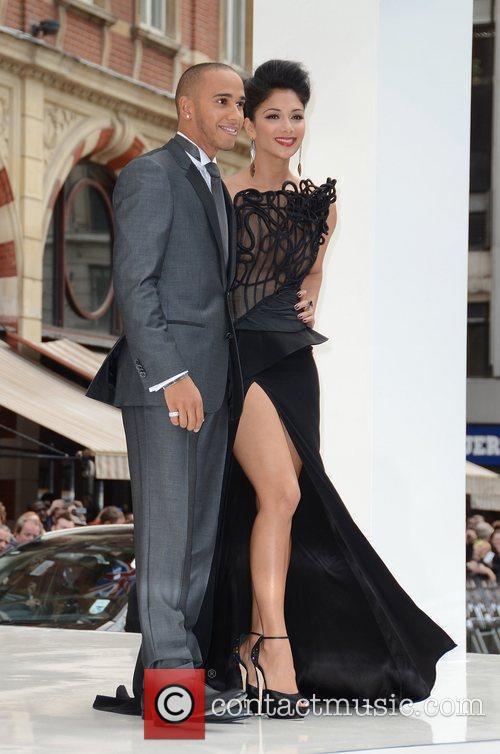 Lewis Hamilton, Nicole Scherzinger and Odeon Leicester Square 1