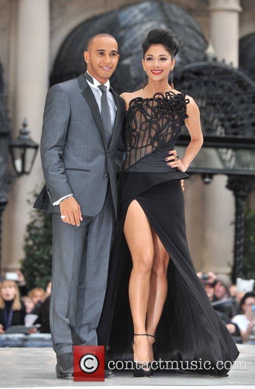 Lewis Hamilton, Nicole Scherzinger and Odeon Leicester Square 2