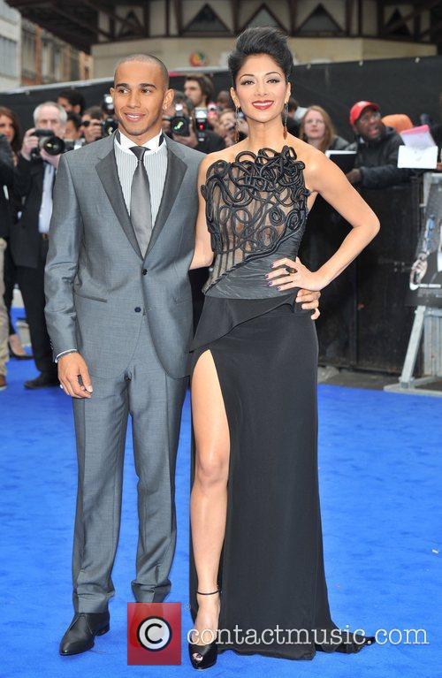 Lewis Hamilton, Nicole Scherzinger and Odeon Leicester Square 3