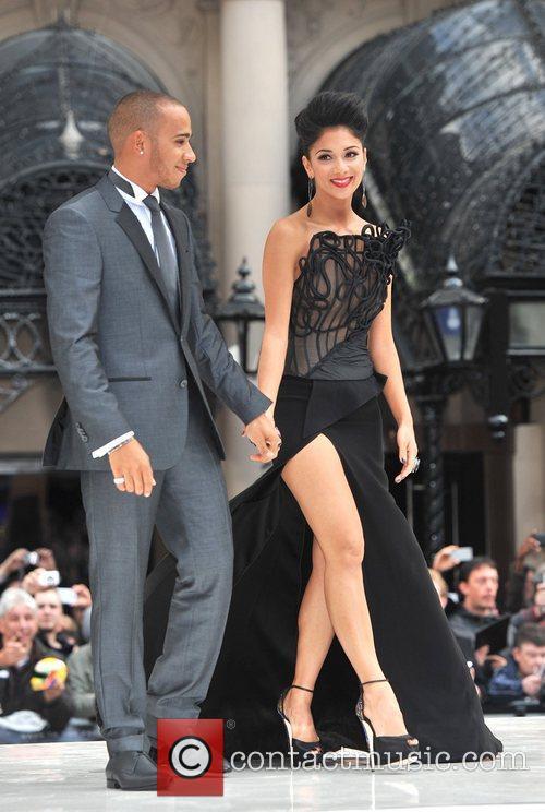 Lewis Hamilton, Nicole Scherzinger and Odeon Leicester Square 4
