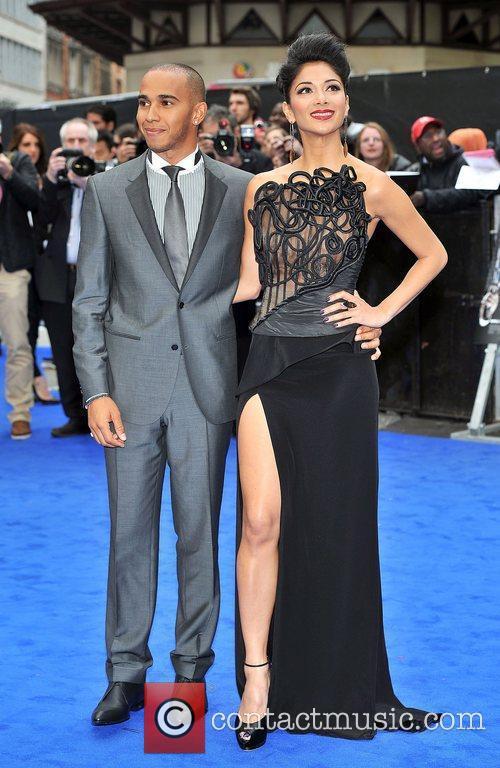 Lewis Hamilton, Nicole Scherzinger and Odeon Leicester Square 13