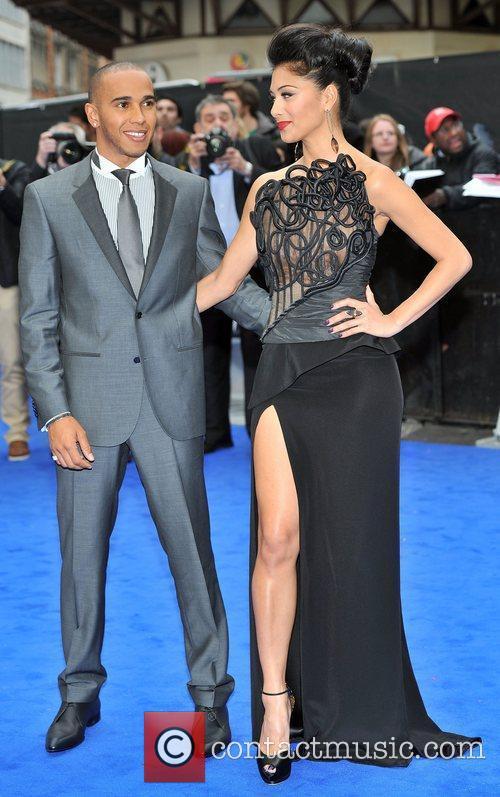 Lewis Hamilton, Nicole Scherzinger and Odeon Leicester Square 17