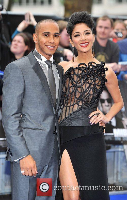 Lewis Hamilton, Nicole Scherzinger and Odeon Leicester Square 9
