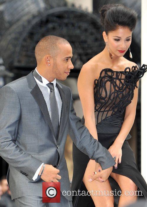 Lewis Hamilton, Nicole Scherzinger and Odeon Leicester Square 11