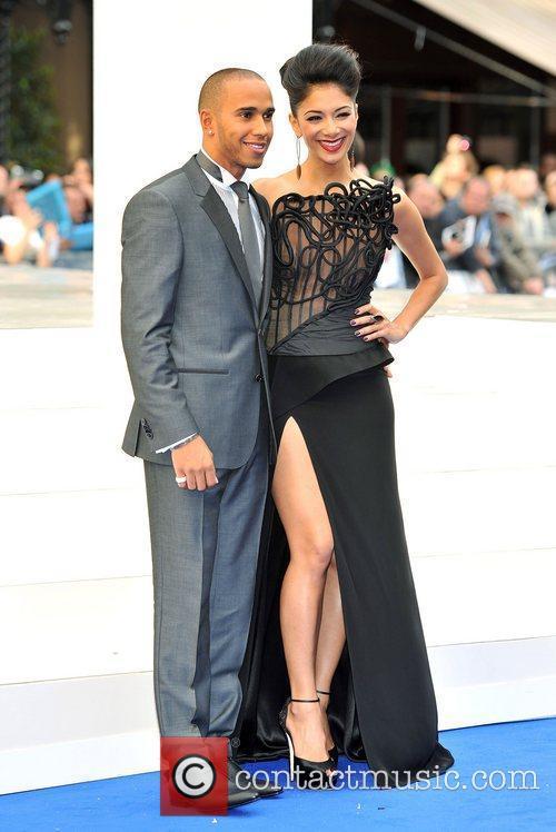 Lewis Hamilton, Nicole Scherzinger and Odeon Leicester Square 5
