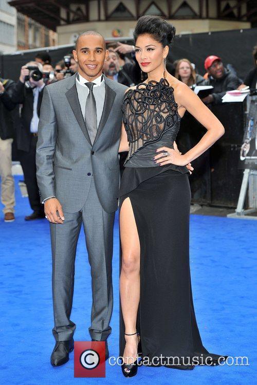 Lewis Hamilton, Nicole Scherzinger and Odeon Leicester Square 7