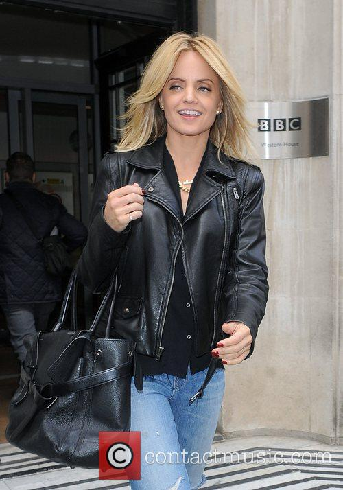 Leaving the BBC Radio 2 Studios after promoting...