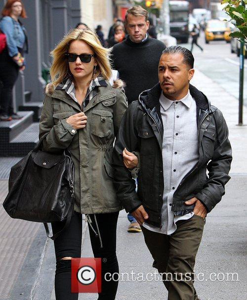 Seen out and about with her boyfriend Salvador...