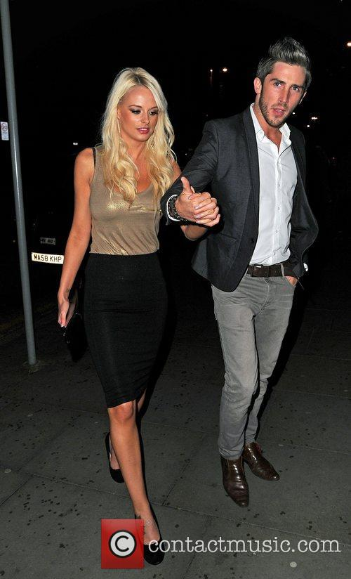 Celebrity Big Brother, Rhian Sugden, Kevin O'dea, Dea, Merabi Couture Launch, Raddisson Hotel. O' and Sion Hardy 1