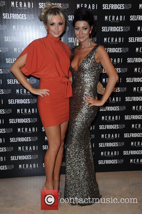 Nadine Merabi and Chloe Cummings attends Merabi Couture...