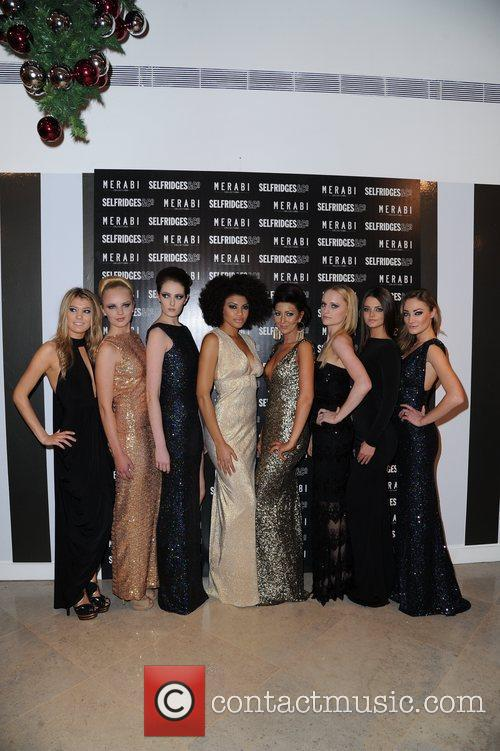 Nadine Merabi and Models  attend Merabi Couture...