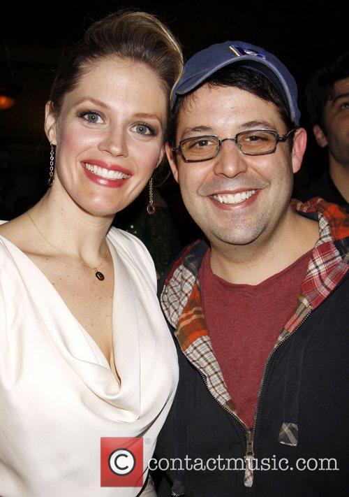 Elizabeth Stanley and Steve Rosen Closing night after...