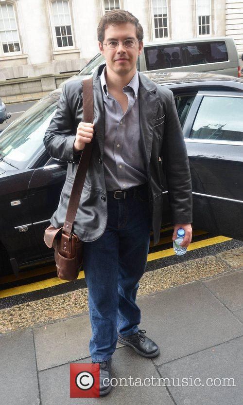 Christopher Paolini outside the Merrion Hotel Dublin, Ireland
