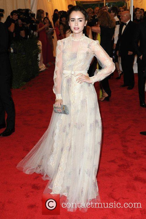 Lily Collins and Metropolitan Museum Of Art 3