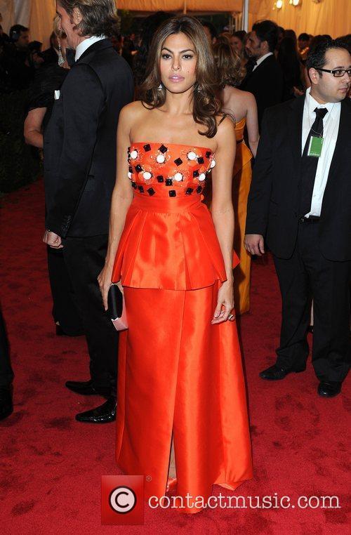 Eva Mendes Schiaparelli and Prada 'Impossible Conversations' Costume...