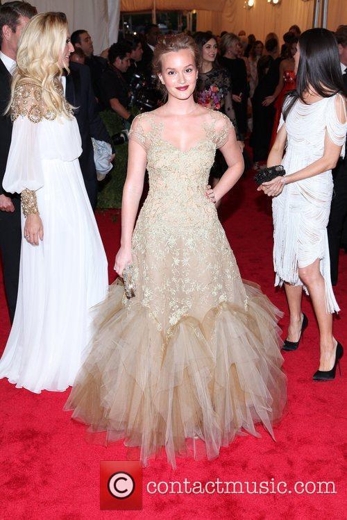 Leighton Meester Schiaparelli and Prada 'Impossible Conversations' Costume...