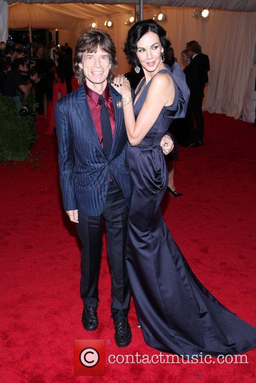 Mick Jagger, L'wren Scott and Metropolitan Museum Of Art 1