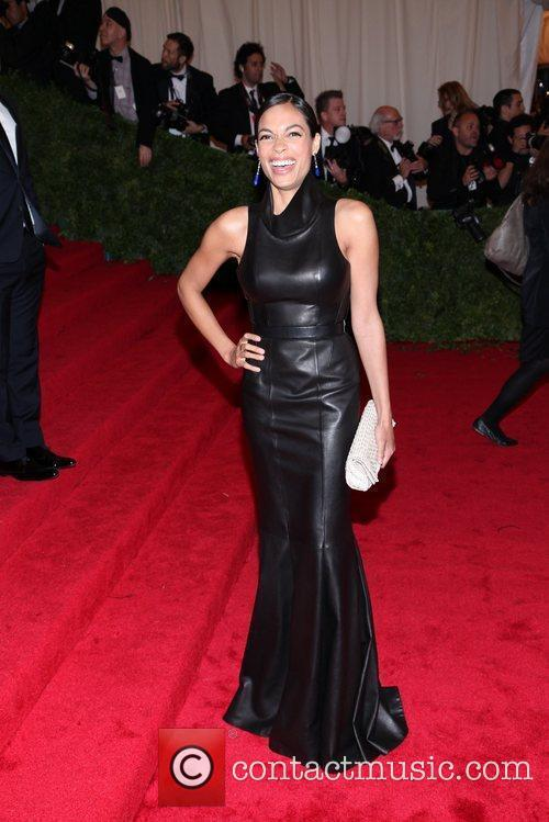 Rosario Dawson Schiaparelli and Prada 'Impossible Conversations' Costume...
