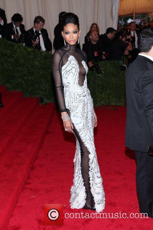 Chanel Iman Schiaparelli and Prada 'Impossible Conversations' Costume...