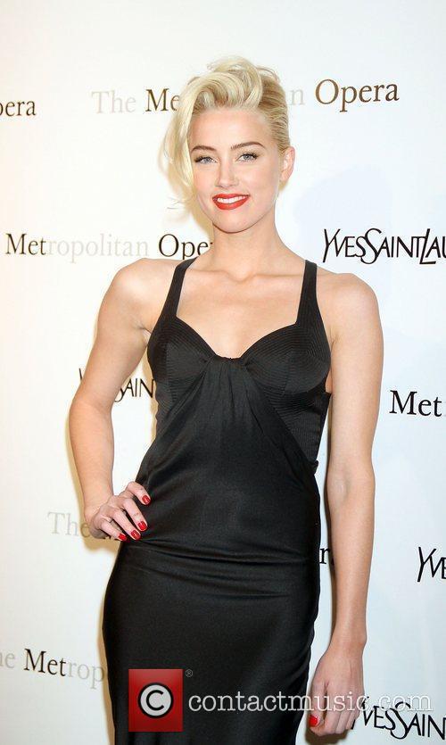 Amber Heard,  at the Metropolitan Opera's premiere...