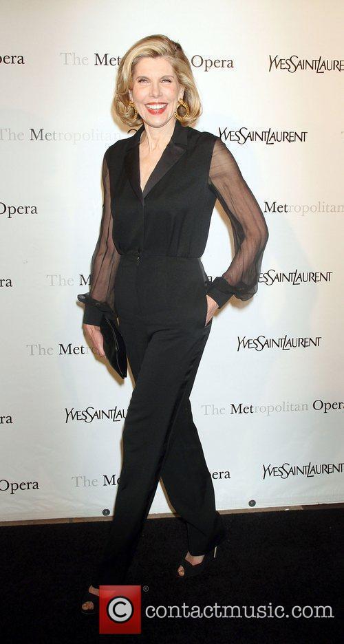 Christine Baranski,  at the Metropolitan Opera's premiere...