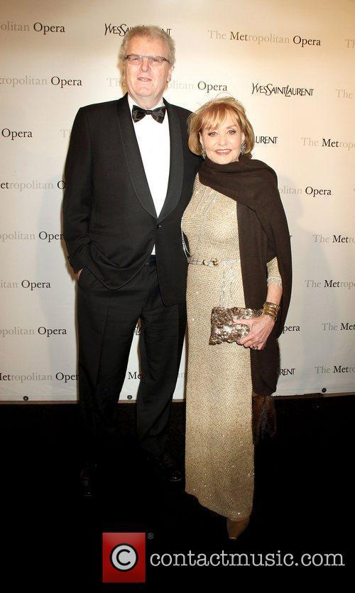 Howard Stringer, Barbara Walters,  at the Metropolitan...