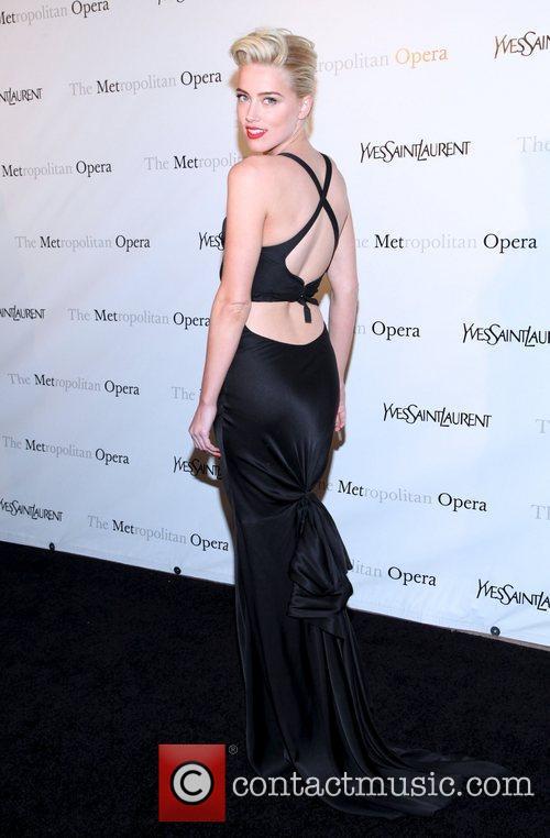 Amber Heard  Metropolitan Opera's premiere of 'Jules...