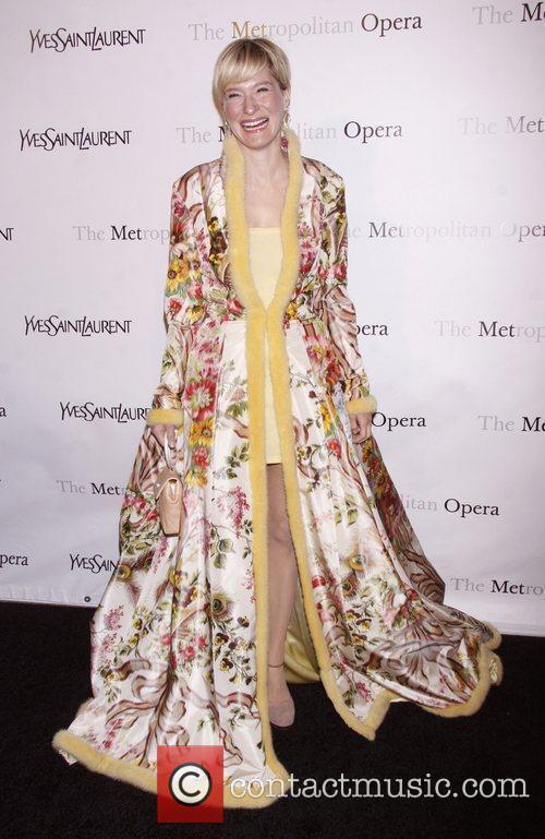 Julie Macklowe wearing Zang Toi  Yves Saint...