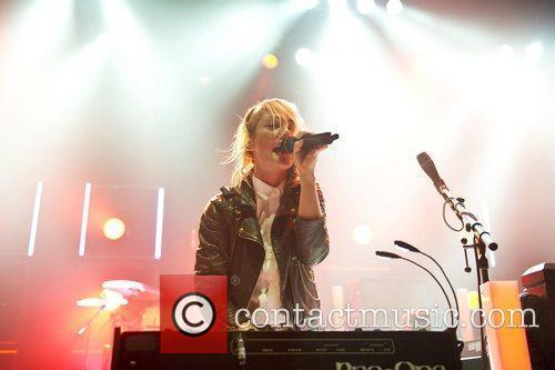 Emily Haines of indie rock band Metric performing...