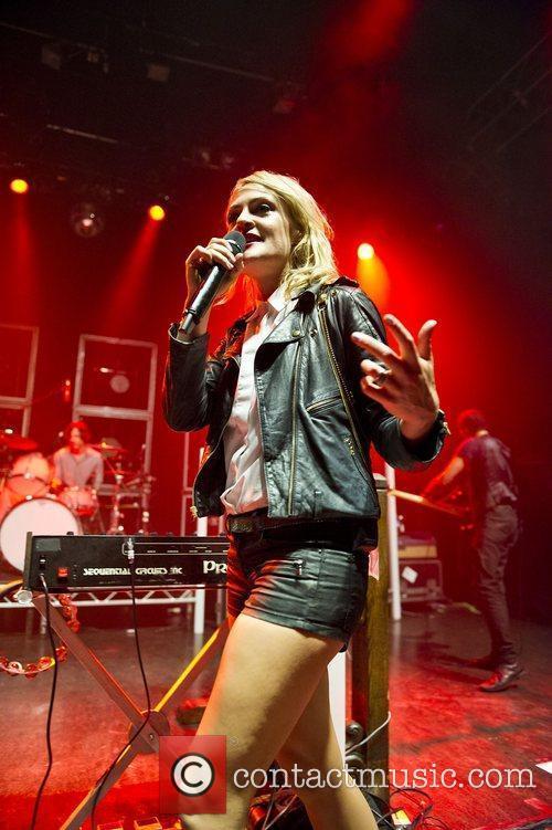Of indie rock band Metric performing live at...