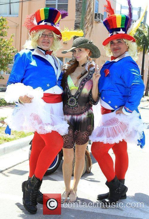 Attends the Miami Beach Gay Pride Parade &...