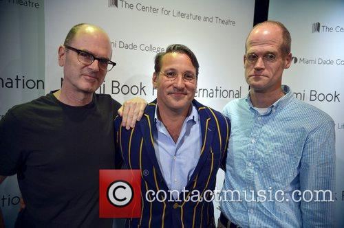 L-r, Charles Burns, Chip Kidd and Chris Ware