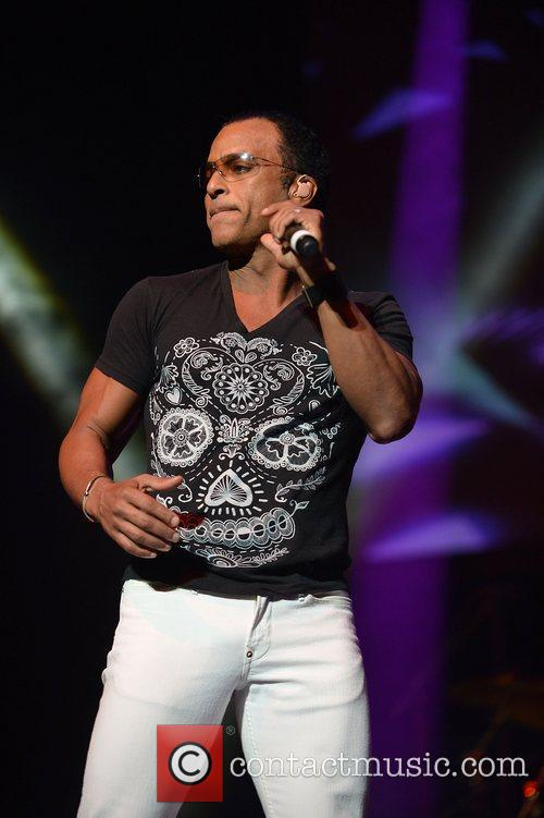 Jon Secada performs during Miami Rocks Our Troops...