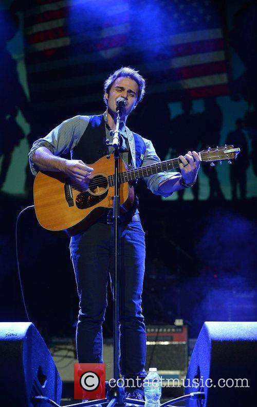 Kris Allen Miami Rocks Our Troops concert held...