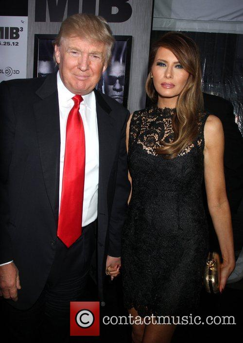 Donald Trump and Melania Trump 'Men in Black...