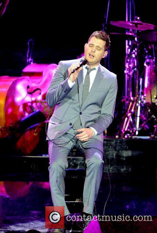 Michael Buble performing in concert at the Ahoy...