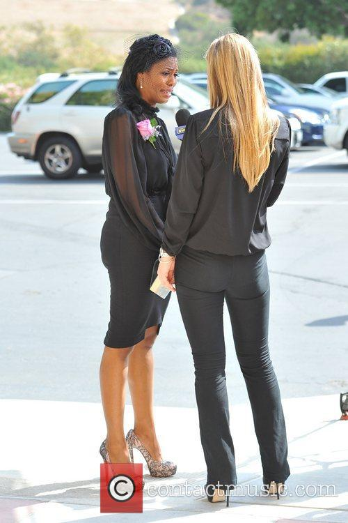 Omarosa Manigault-Stallworth Guests arrive for the funeral of...