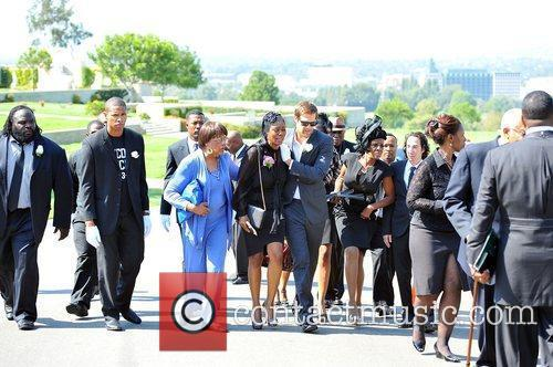 At Michael Clarke Duncan's Memorial Service at Forest...