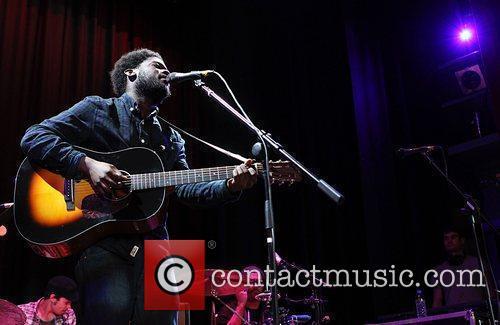 BBC's Sound of 2012 winner Michael Kiwanuka performing...