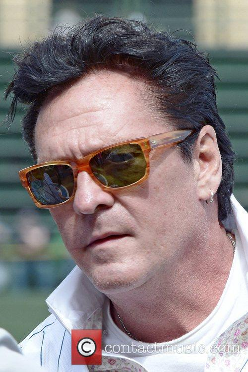 Actor Michael Madsen throws out a ceremonial first...
